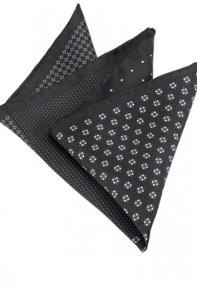 OLYMP Pocket square, 33x33 cm, Black
