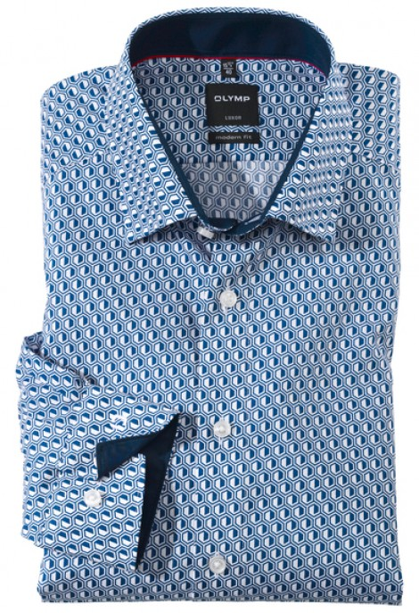 OLYMP Luxor, modern fit, Under button-down, Royal